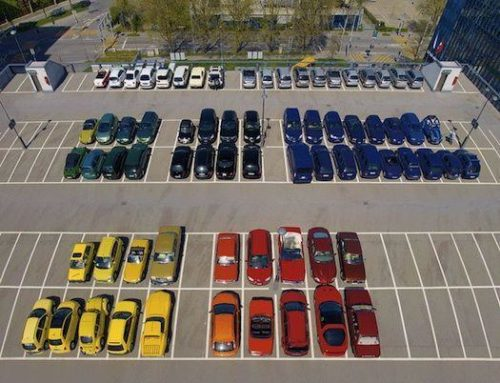 Cars organized by colour